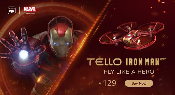 Dji tello ironman edition banner hue&shades
